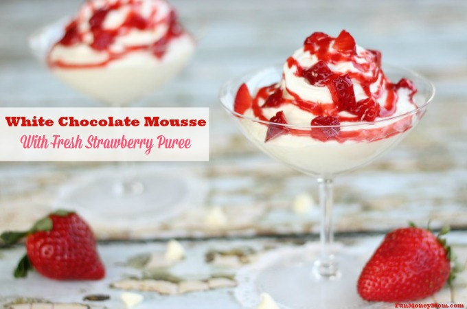White Chocolate Mousse With Fresh Strawberry Puree