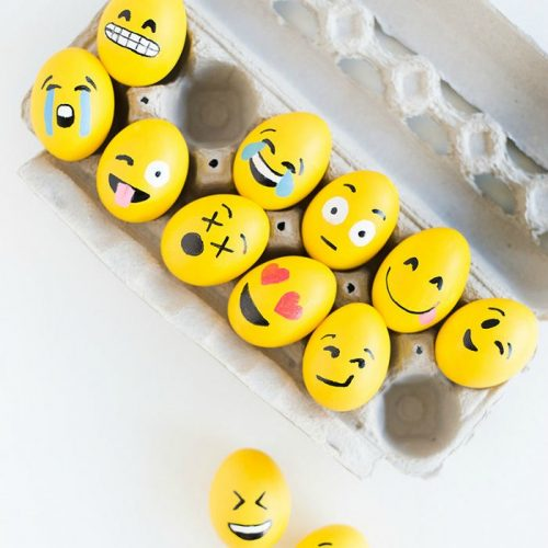 Emoji Easter egg decorating ideas