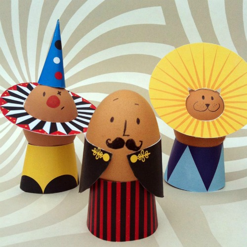 Circus Easter egg decorating ideas