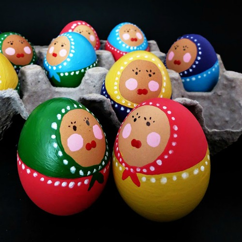 Babouchka Easter egg decorating ideas