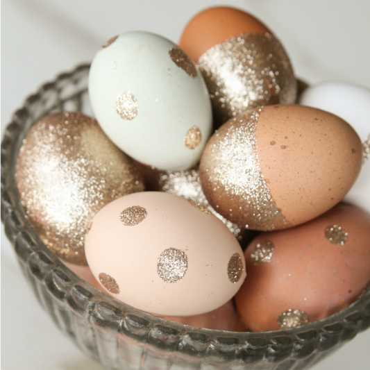 Glitter decorated Easter egg ideas