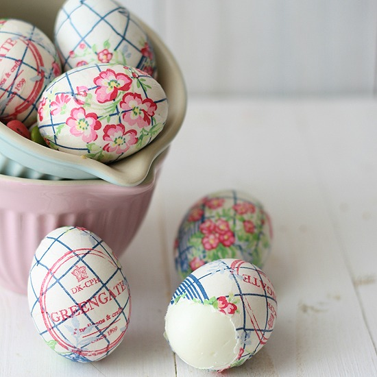 Paper napkin Easter egg ideas