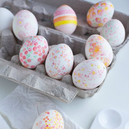 Floral & confetti Easter egg ideas