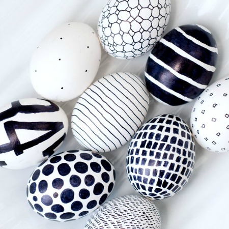 Black & white Easter egg ideas