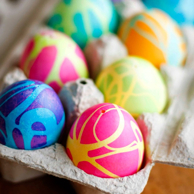 Rubber cement Easter egg ideas