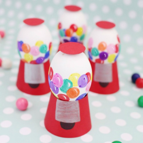 Gumball machine Easter egg decorating ideas