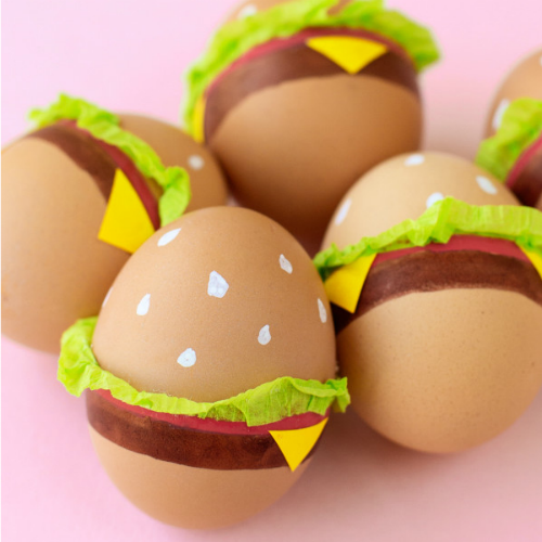 Hamburger Easter egg decorating ideas