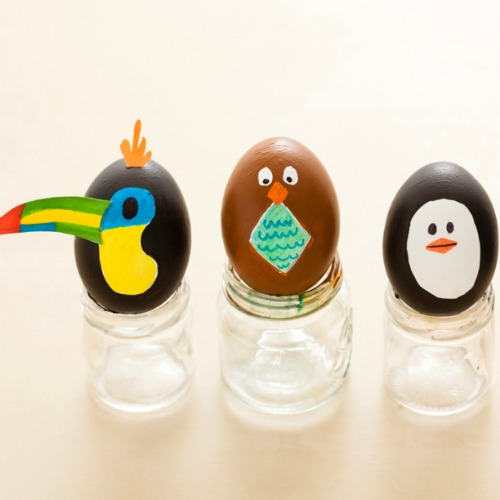 Animal Easter egg decorating ideas