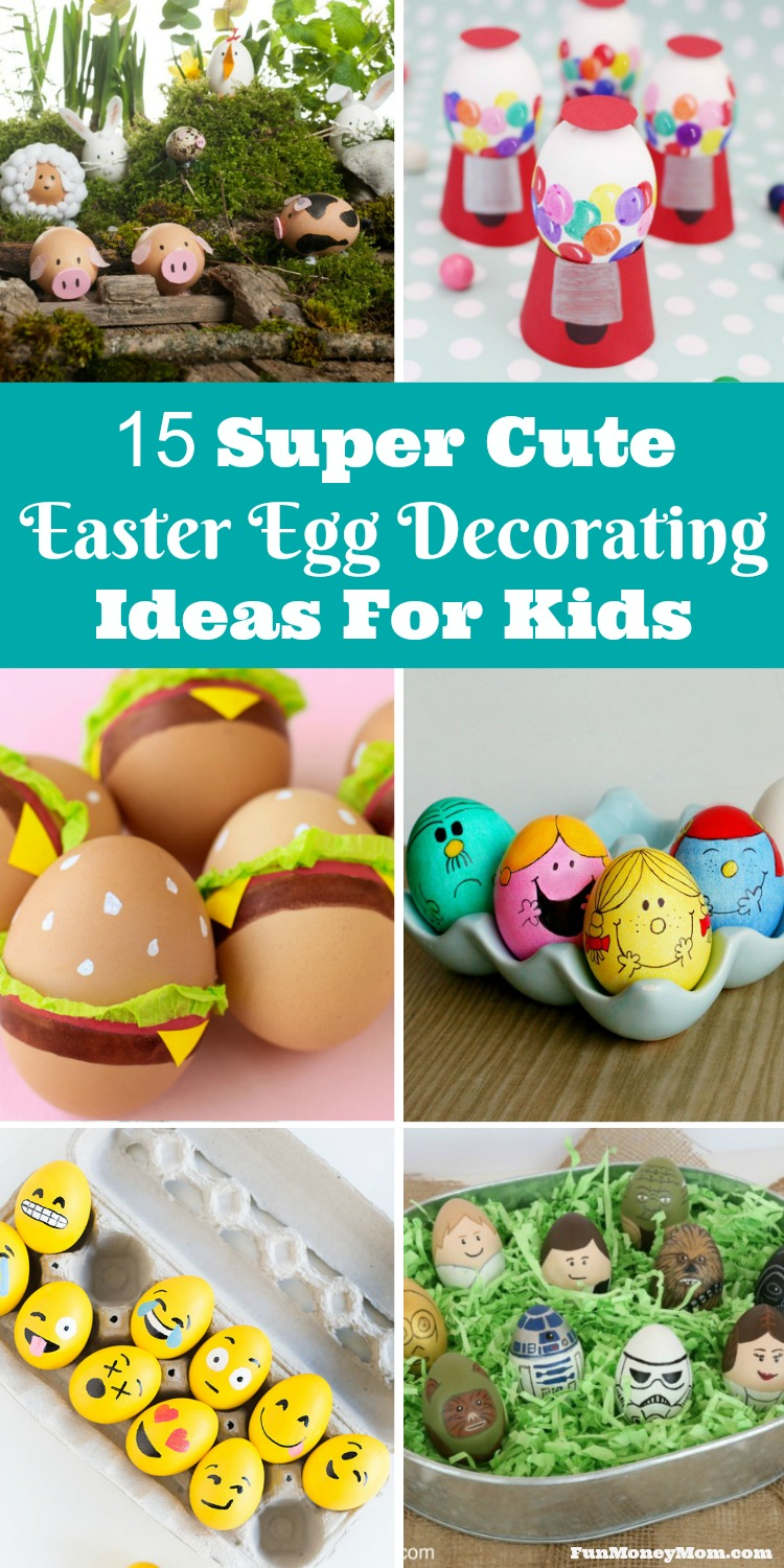 15 Super Cute Easter Egg Decorating Ideas For Kids - Fun ...