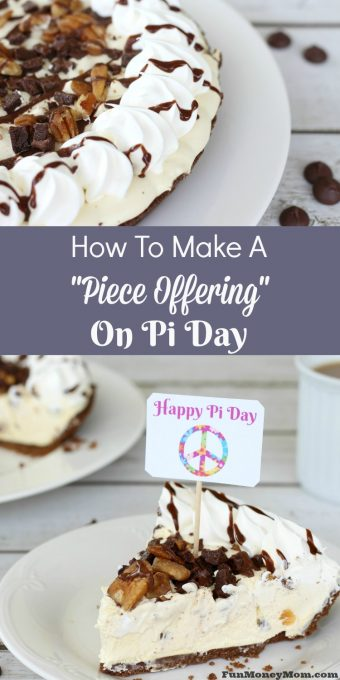 """Have you done this to your husband too? I'm pretty sure I'm not the only one! Celebrate Pi Day with this """"piece offering"""" and all will be forgiven! #ad #EdwardsPieceOffering @EdwardsDesserts"""