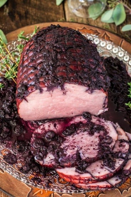Easter Ham Recipes Blueberry Glazed Ham