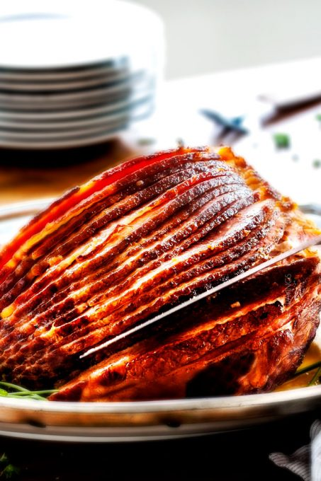 Easter Ham Recipes Baked Ham With Apple Cider Maple Glaze