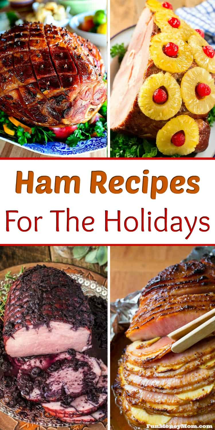 Ham Recipes - Looking for the perfect holiday ham recipe? These mouthwatering ham recipes are perfect for Christmas dinner, Easter dinner or any other special occasion. #hamrecipe #Christmasdinner #Easterdinner