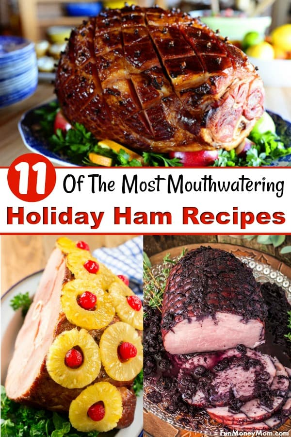 Ham Recipes - Looking for a delicious holiday ham recipe? These mouthwatering ham recipes are perfect for your Easter dinner, Christmas dinner or any other special occasion. #hamrecipes #Christmasdinner #Easterdinner