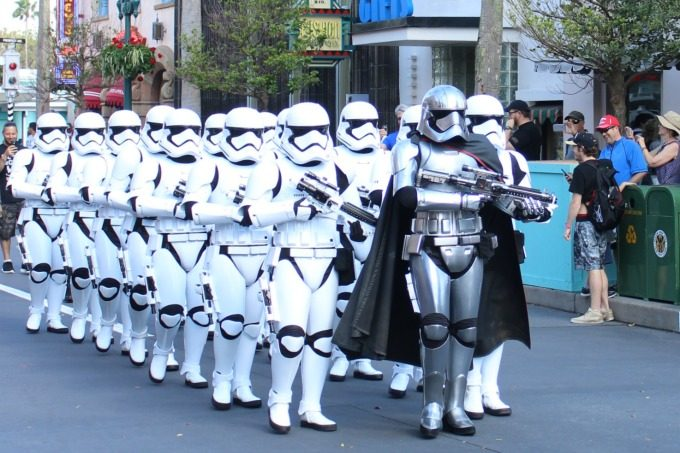 We ran into some stormtroopers at Hollywood Studios