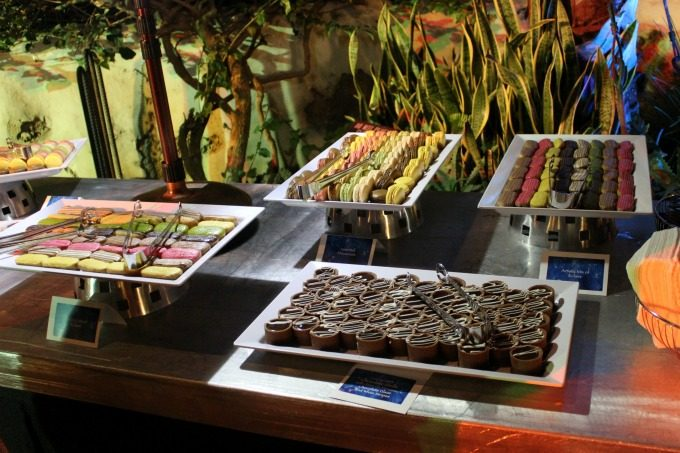 The dessert table was very popular