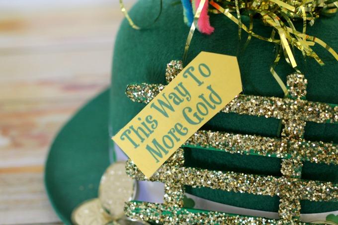 Sign for leprechaun gold