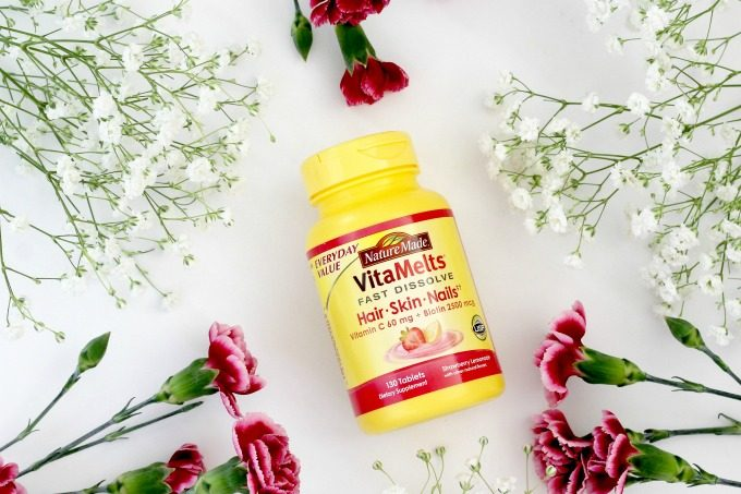Nature Made VitaMelts help support healthy hair, skin and nails