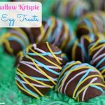 Marshmallow Krispie Easter Egg Treats
