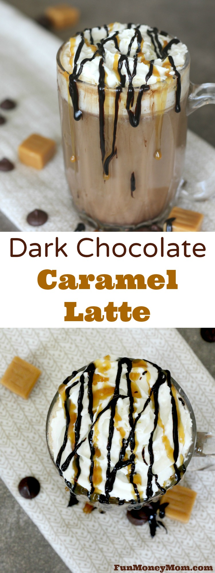 Do you have a hard time waking up in the morning? This delicious Dark Chocolate Caramel Latte coffee drink will make it a lot easier! #CoffeehouseBlend #ad