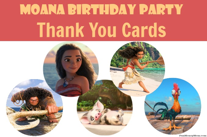 Free Printable Moana Thank You Cards