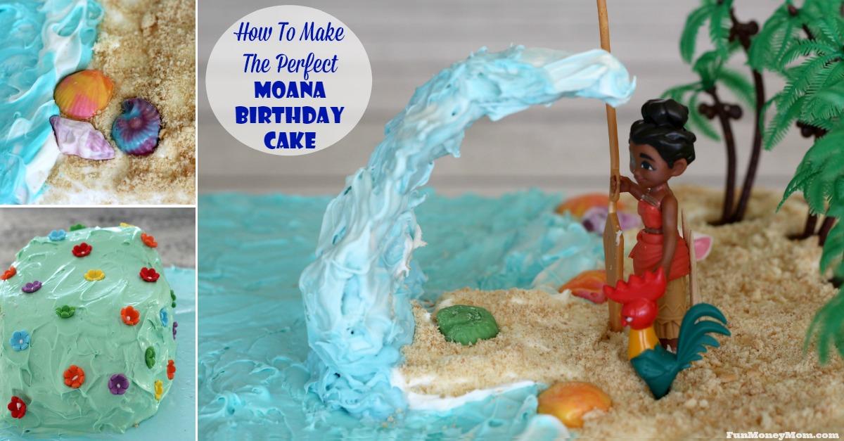 Moana Birthday Drip Cake