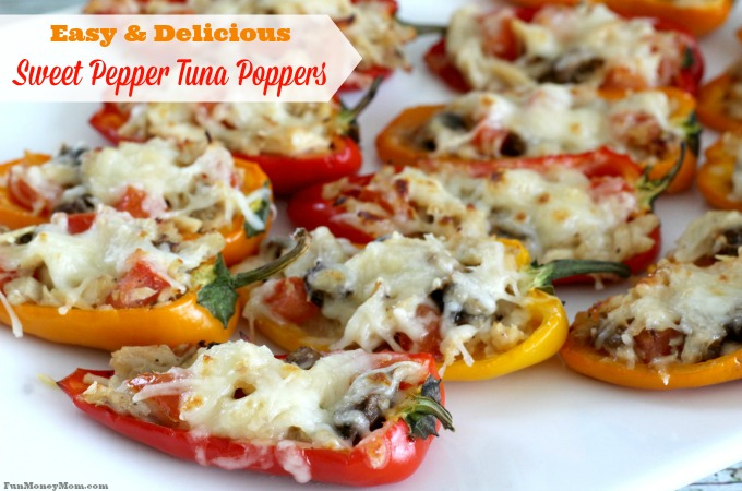 Easy & Delicious Sweet Pepper Tuna Poppers