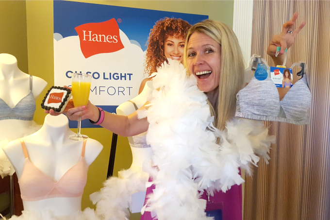 I'm Happy In Hanes at the Disney Social Media Moms Celebration