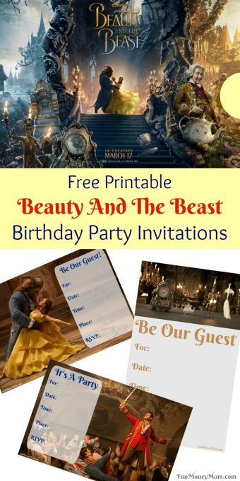 If you're planning a Beauty & The Beast birthday party, you're going to need party invitations!
