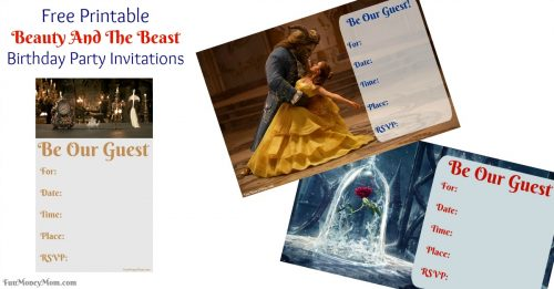 Beauty and the Beast birthday invitations for facebook