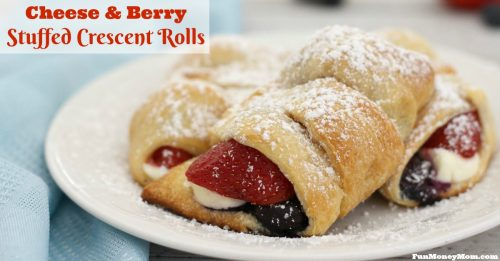Easy Cheese & Berry Stuffed Crescent Rolls