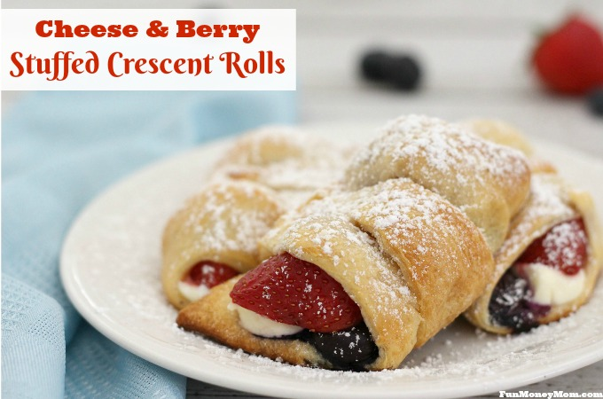 Cheese And Berry Stuffed Crescent Rolls