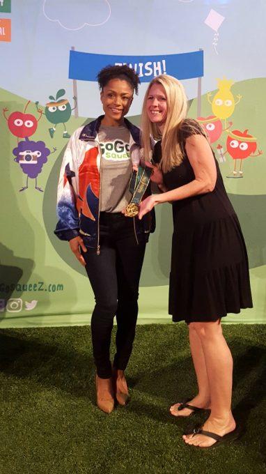 Meeting Dominique Dawes at the Disney Social Media Mom's Celebration 2017