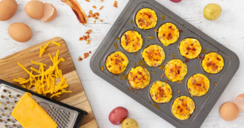 Mini egg muffins with bacon