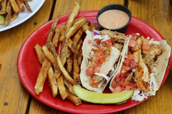 Dining on fish tacos in Pasco County