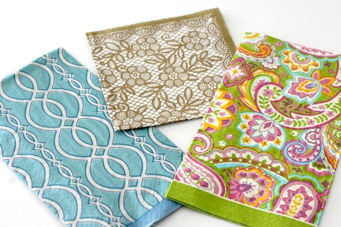 Choose whatever pattern you like for your Napkin Wrapped Easter Eggs