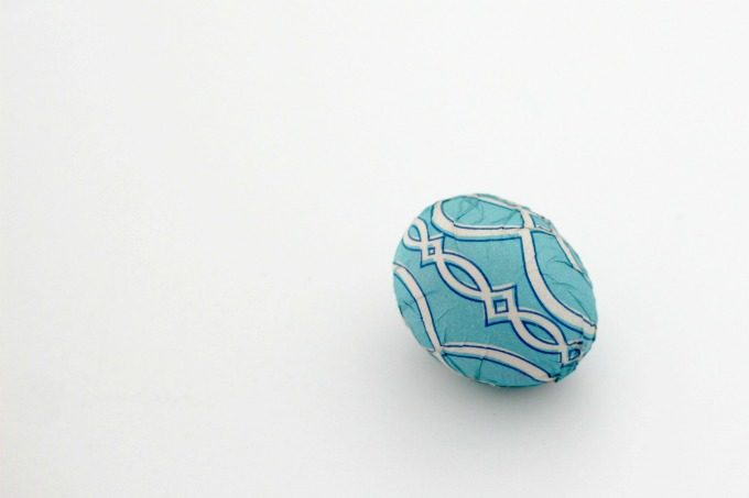 Let your napkin wrapped Easter egg dry and it'll be ready to put on display