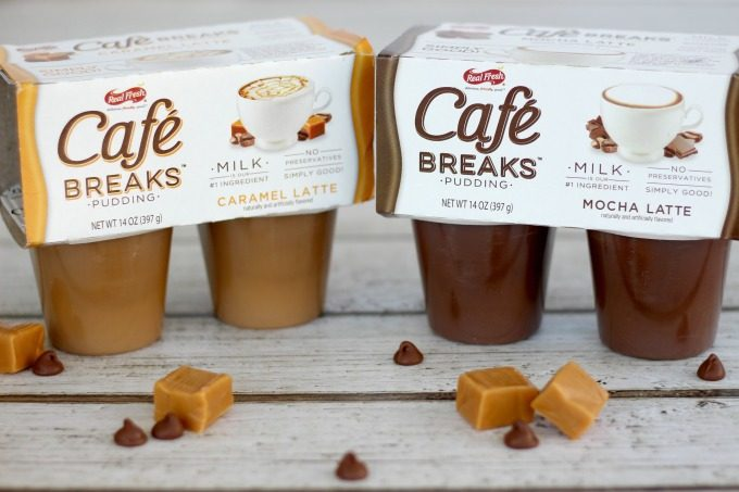 Two of the most popular Cafe Breaks flavors are Caramel Latte and Mocha Latte