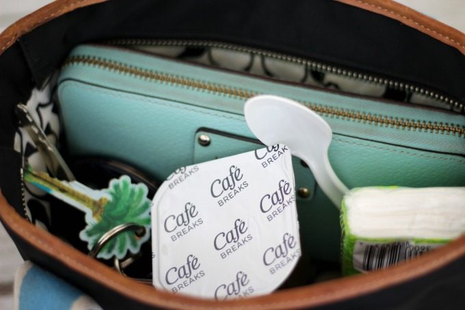 Throw a Cafe Break snack in your purse for a delicious treat on the go