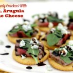 Best Ever Party Crackers With Steak, Arugula And Blue Cheese