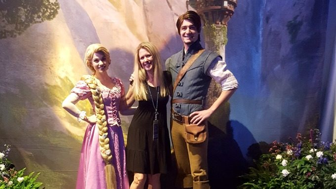 Rapunzel and Flynn Ryder at Disney Social Media Mom's Celebration 2017
