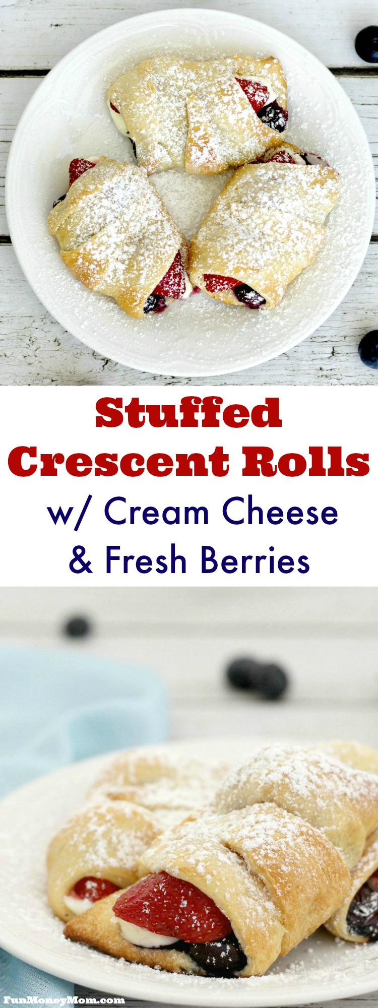 With just four main ingredients, these Cheese & Berry Stuffed Crescent Rolls are just as easy as they are delicious. Serve them for breakfast or dessert!