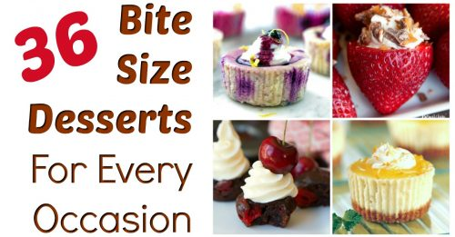 Bite size desserts for parties and other occasions