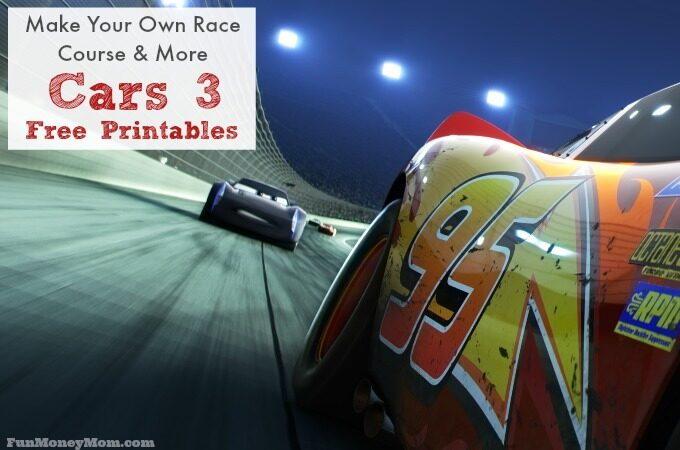 Cars 3 free printables feature
