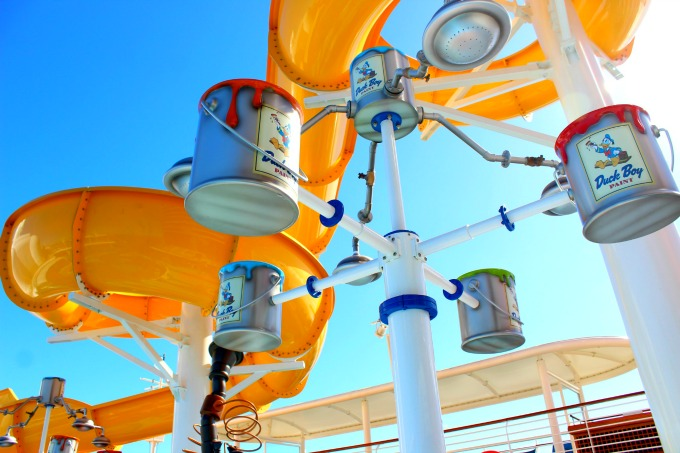What kid wouldn't love this waterslide on board the Disney Wonder