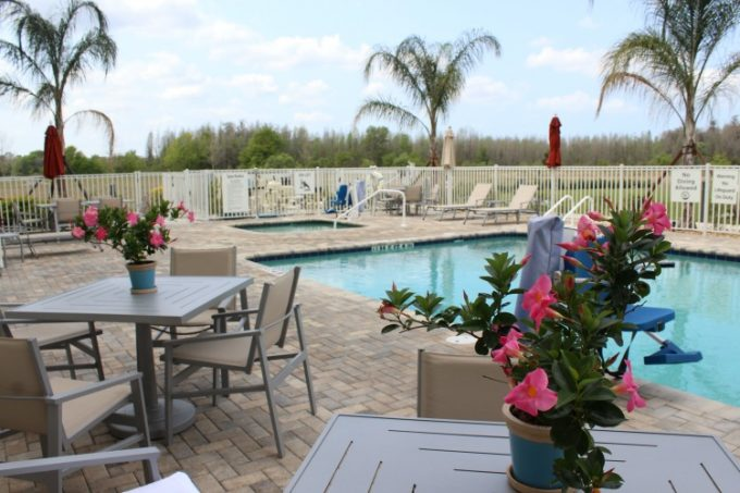 The pool area at the Holiday Inn Pasco County