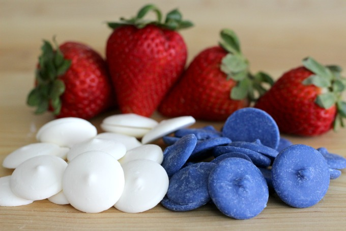 Start with candy melts for your Red White And Blue Strawberries