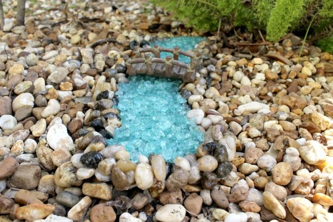 Water features really add to the overall look of a gnome garden