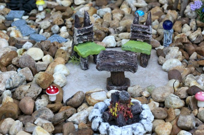 The gnomes will want to get more comfortable in the gnome garden with some cute furniture.
