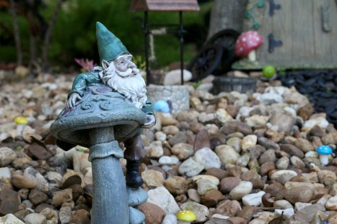 Another gnome enjoying the view of his new gnome garden